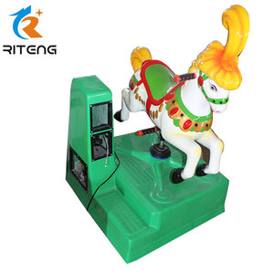 cheap coin operated fiberglass horse kiddie ride for sale