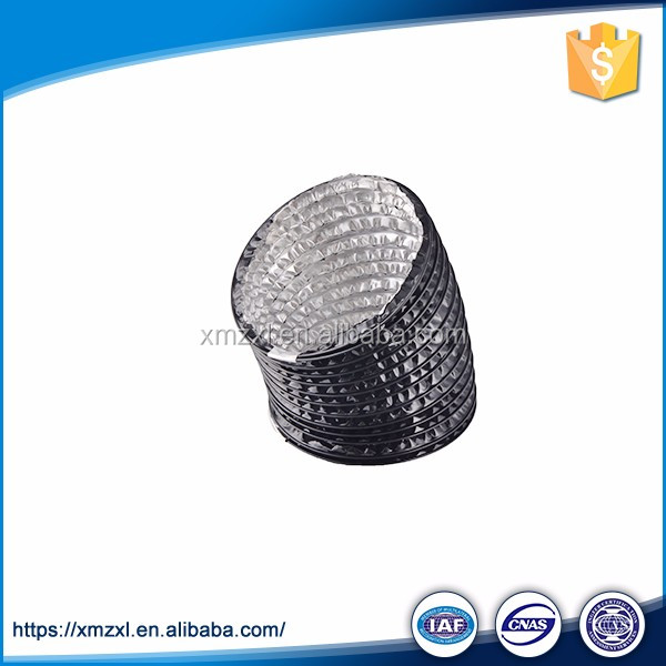 Ventilation black pvc insulated aluminum flexible duct