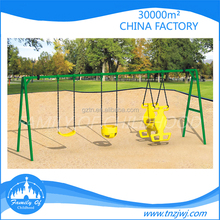 Happy childhood unique swings kids swing structure plastic slides outdoor for backyard