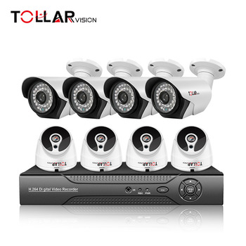8CH 1080p night vision security camera system ahd cctv kit