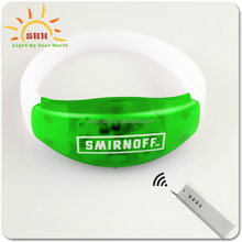 Hot silicone bracelet with 3 led lights, motion senor led wristbands bracelets