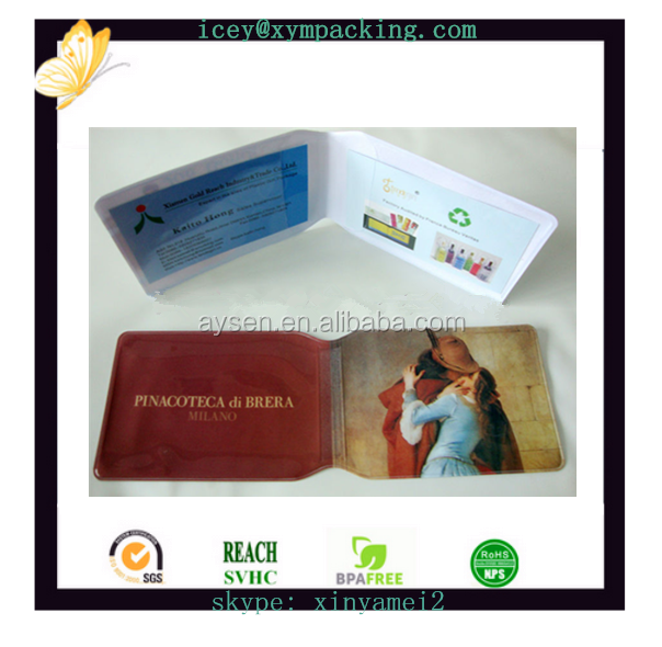 new design promotional pvc credit card holder