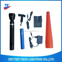Rechargeable high power 3w LED Torchlight with baton model 8813