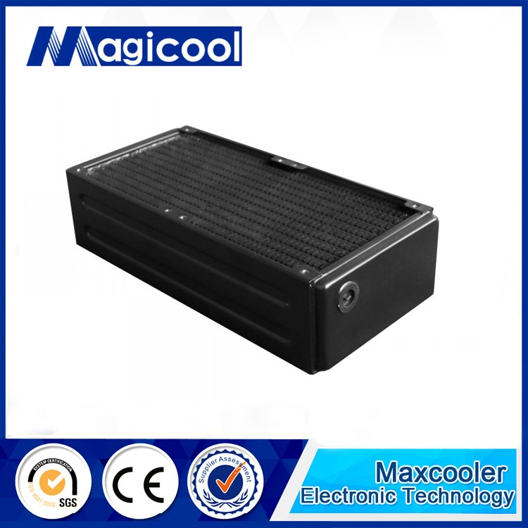 High performance water cooling pc copper radiator with 65mm thickness and 120mm length ,CG G2X mode,Liquid cooling radiator