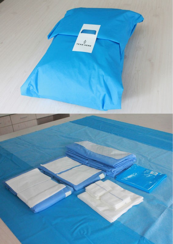 eo sterile surgical sterile surgical manufacture disposable sterile cesarean section drape pack