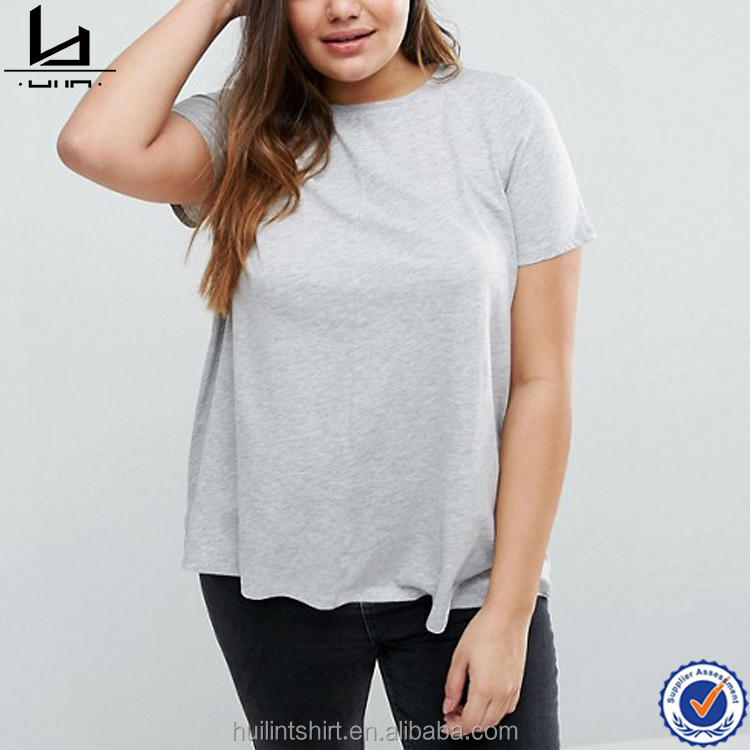 Brand Factory Online Shopping Plus-size Press Oversized Blank No Label Tshirt