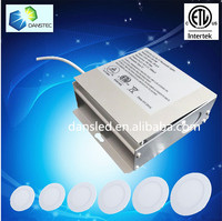 ETL cUL 8w 9w 10w 12w 15w recessed led panel light downlight driver built-in a junction box for Canada America USA