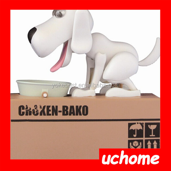 UCHOME Electronic Eating money Dog Money Box,Piggy Bank,Coin Bank