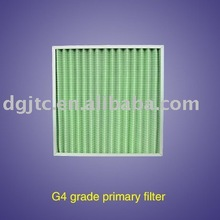 G4 Glass Fiber Pleated panel filter,heavy duty filter