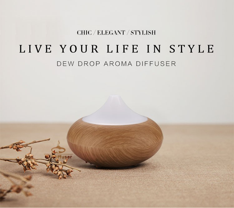 High quality wooden air aroma diffuser/aromatherapy diffuser/Electric Aroma Diffuser Light wood Dark wood