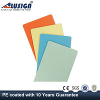 Alusign aluminum facade exterior 5 mm thick plastic sheet pvdf aluminum composite panel