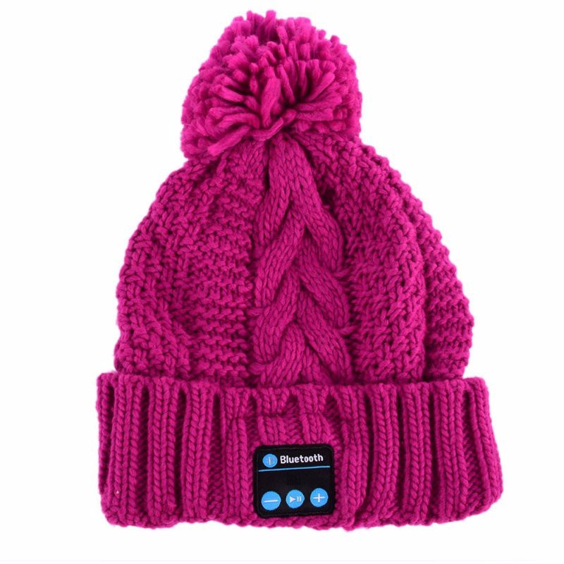 High quality Fabric Bluetooth Beanie Hat With Headphone Smart Bluetooth Beanie Music Knitted Hat Winter MP3 Women or Men Cap