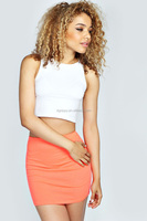 Neon Basic Bodycon Mini Skirt