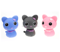 custom mini plastic figures toys,plastic mini catty figures,mini pvc figure for car decoration