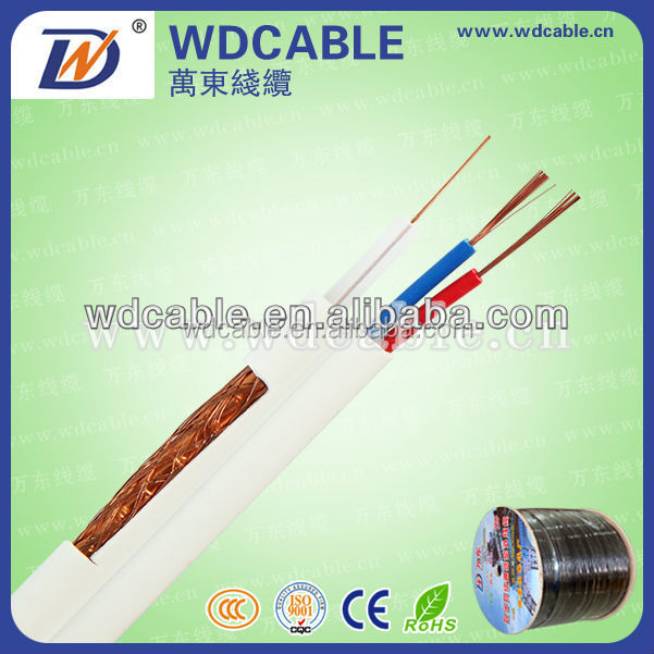 High quality RG59 cctv cable, RG59+2C 5v2c Camera Cable, 3 in 1 cctv cable