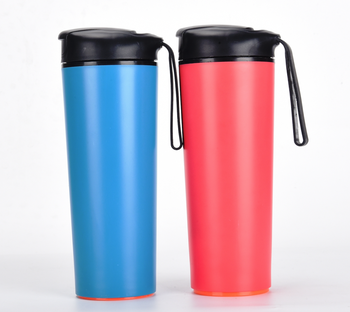 Amazon hot sale tumbler water pp cup plastic bottles 500ml with rope