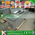 Commercial R410A refrigerant fast cooling thailand double square pan fried ice cream roll machine