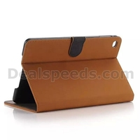 Vintage Matte Yellow Wallet TPU+ PU Leather Case for iPad Mini 4