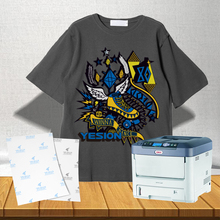Yesion Self-Weeding Transfer Paper with many colors and the hollow effect with laser printer oki C711WT