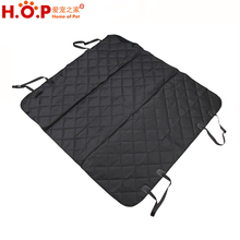 Anti Slip Waterproof Rhombus Quilted Rear Pet Car Seat Cover For Dogs And Cats