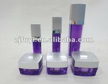 Square Empty Acrylic Cream Container and Cosmetic Lotion Pump Bottle