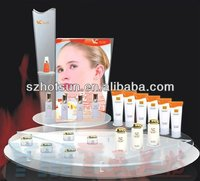 acrylic cosmetic display stand for perfum nail oil skin cream beauty product