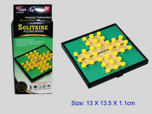 Educational solitaire magnetic board game