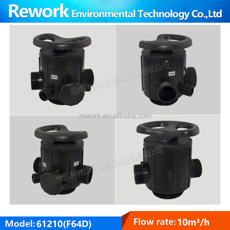 "F64D 10m3/h 2""M Water softner control valve/Manual multi-port softener valves"