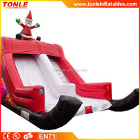 Sleigh Santa Claus Inflatable Slide for Christmas
