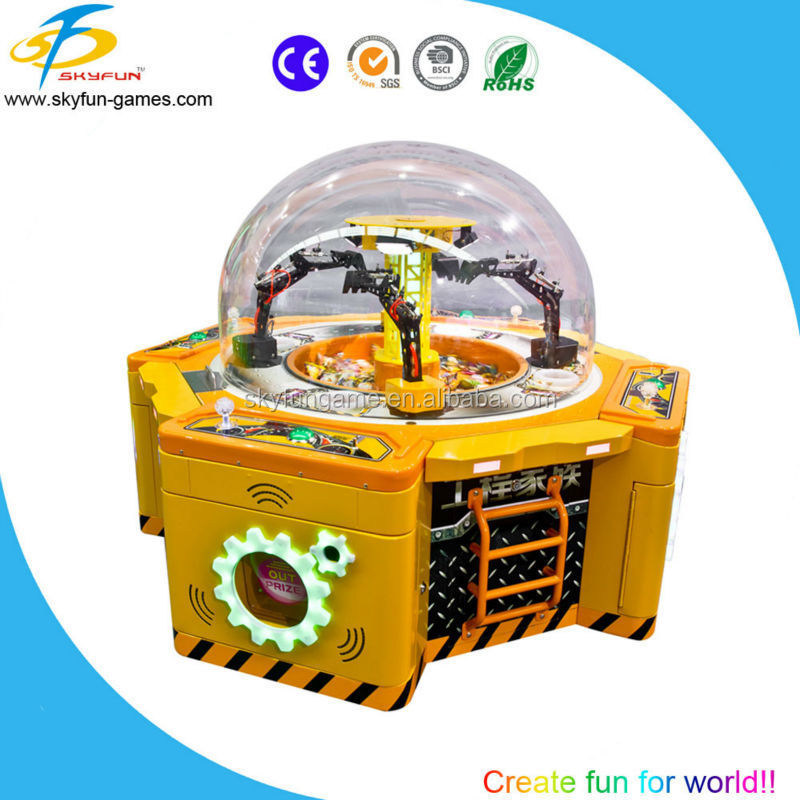2015 new multiplayer candy grabber game machine for kids