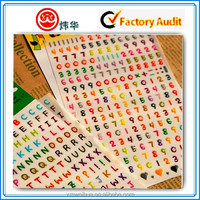 Custom adhesive Sticker with colorful printings in a sheet for kids