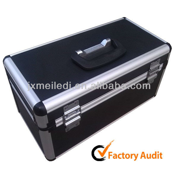 MLDGJ277 General Common Black Plastic Aluminium Frame Empty Electrical Tool Kit & Tools Box Carrying