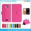 Crystal Pattern Book Style Flip Cover Leather Phone Case For Coolpad Catalyst 3623A