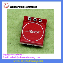 Self locking point dynamic capacitance switch single path transformation touch key module