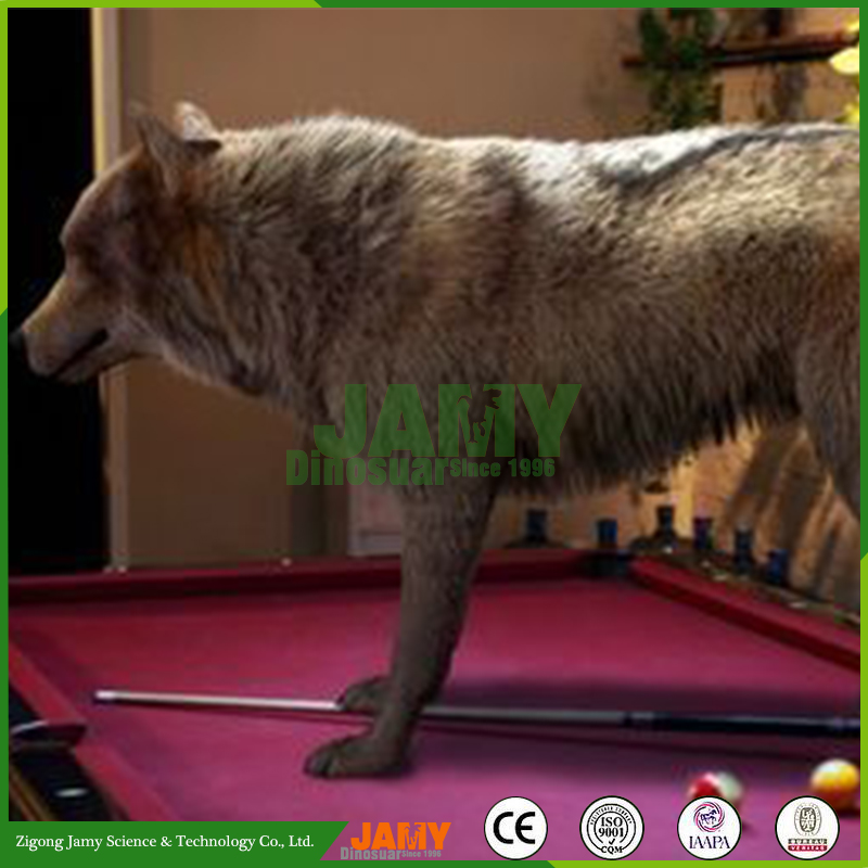 Realistic Simulation Rubber animatronic Wolf Model