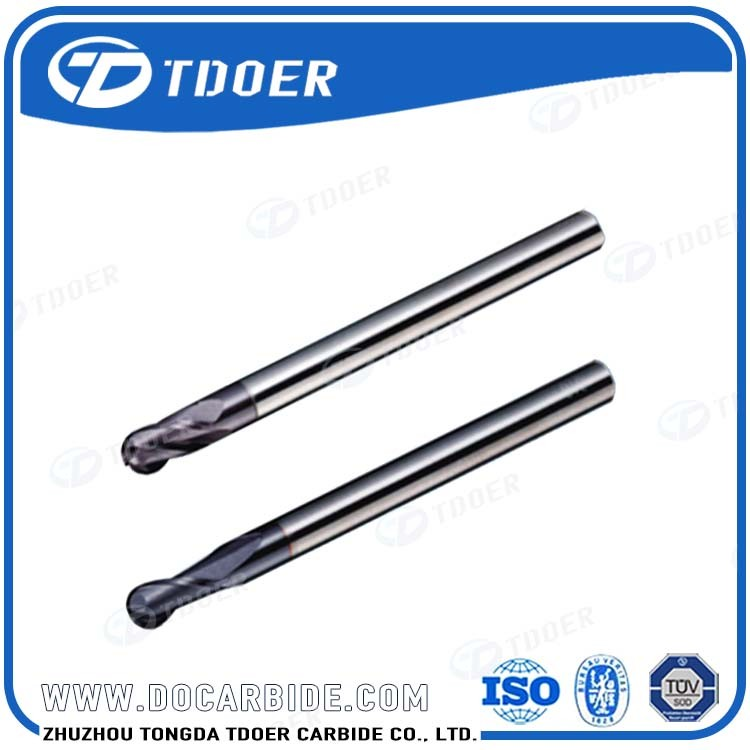 Big discount for Tungsten Carbide Long Shank 2 Flute Ball Nose End Mills