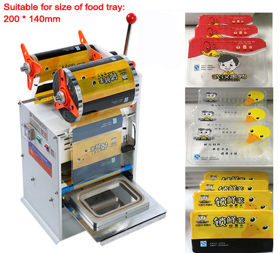 semi automatic Desktop cup sealer, food tray Sealing Machine