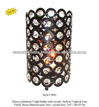 CRYSTAL VOTIVE T LIGHT HOLDER