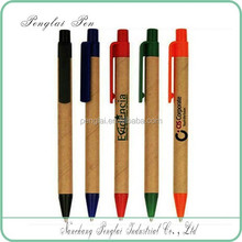 recycled roller paper barrel pen with plastic click