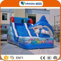 Factory price water yacht inflatable slide slide double lane inflatable