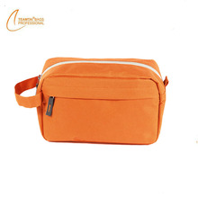 Light orange hanging toiletry bag fashion nylon cosmetic bag