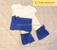 2015 childrens boutique clothing sets girls ruffle outfits clothes made in turkey