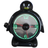 Manufacturer High Quality Patent Penguin Clock USB Fan Mini Clock Fan Brushless Motor Air Cooler for House, Computer Clock Fan