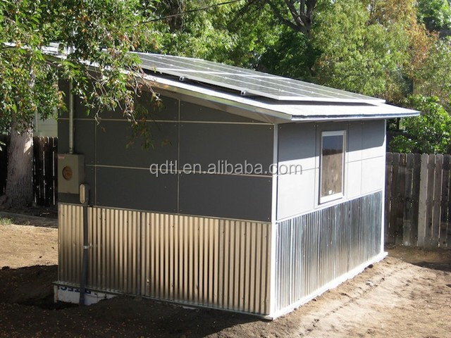 prefab steel sandwich panel cabin shelter building house