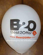 2012 good quality white color CMYK printing balloon