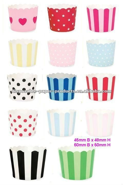 Stripe polka dot baking cups,candy cups,nut cups,cupcake liners,treat favors,Ice Cream Cups Nut Baking cupcake liners muffin Cup