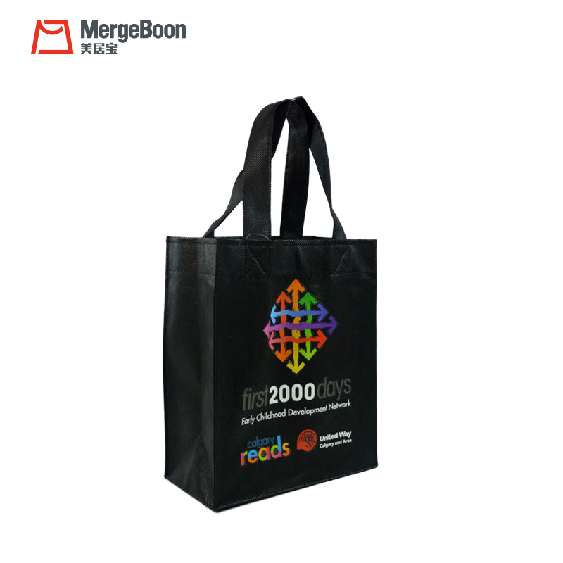 decorative reusable non woven grocery shopping tote bag for Custom manufacturer