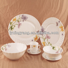 Light weight ceramic ware wedding dinner set