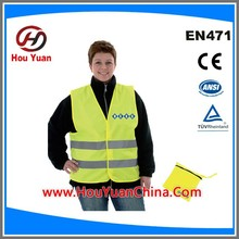 Manufactory supply Europe Market CE EN20471:2013 Standard Reflective safety vest,Safety vest, PMS colour can be done customized
