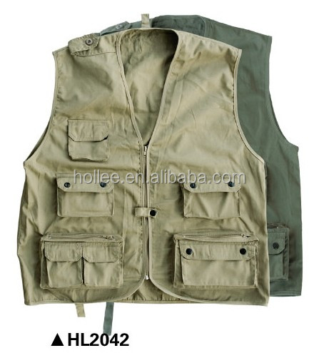 t/c mesh lined gilet reporter fishing vests